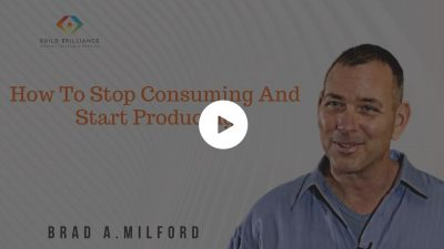 How To Stop Consuming And Start Producing
