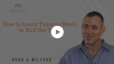 How to Learn Twice as Much in Half the Time